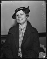 Emma May Carroll, operator of the Flores Elysian Stables, who obtained a divorce, 1935