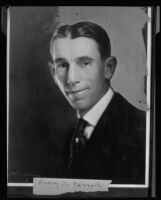 Portrait photograph of Harry S. Carroll, rephotographed, 1920