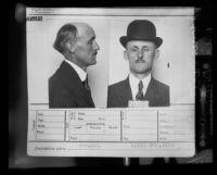 "Mugshot of James ""Deep Sea Jimmy"" Carter, Los Angeles, 1935"