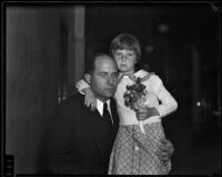 Seven-year-old Virginia Carter with her father Archie Carter, Los Angeles, 1935