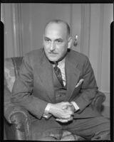 Ambassador J. M. Puig Casauranc talks about his home country, Los Angeles, 1935