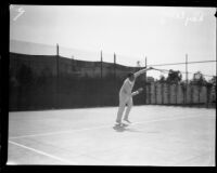 Ray Casey at the Ambassador Hotel tennis tournament, Los Angeles, 1924