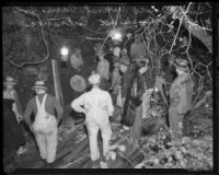 Workman trapped in San Dimas water tunnel cave-in, 1935