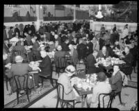 Salvation Army serves Christmas dinner for the needy and homeless, Los Angeles, 1934