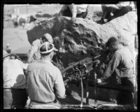 Miners working on the Colorado River Aqueduct, Southern California, between 1933 and 1935