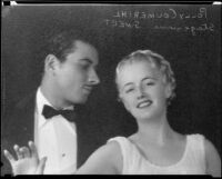 Polly Coumerihl, actress, with an actor, circa 1930-1939