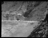 Construction of Big Dalton Dam, Glendora (vicinity), between 1928 and 1929
