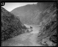 View of Dalton Canyon below the dam, Glendora (vicinity), ca. 1929