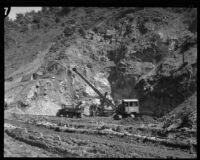 Construction crew at Big Dalton Dam, Glendora (vicinity), between 1928 and 1929