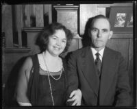 Alice and Albert Cheap, parents of thirteen children, Los Angeles, 1933