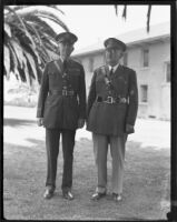 General Sherwood A. Cheney and Colonel Charles H. Hilton at Fort MacArthur, San Pedro, 1933