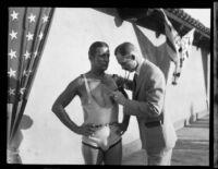 Jimmy Cherry sets aquatic endurance record, Los Angeles, 1928