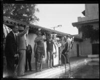 Jimmy Cherry sets aquatic endurance record at Bimini Baths, Los Angeles, 1928