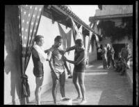 Jimmy Cherry preparing for endurance swim, Los Angeles, 1928