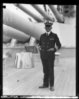 Admiral Harold H. Christy, commander of the flagship New Mexico, San Pedro (Los Angeles), 1930
