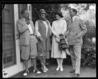 Howard Chandler Christy, Nancy Palmer, Jessie Hays, and William H. Hays