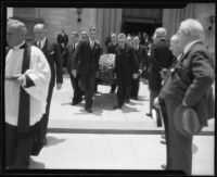 William Andrews Clark III funeral service at St. John's Episcopal Church, Los Angeles, 1932