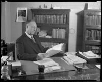 Archie R. Clifton, superintendent of Los Angeles County schools, Los Angeles, 1935