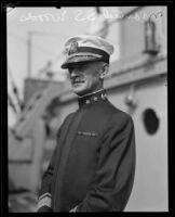 Admiral Spencer S. Wood aboard the Baltimore, San Pedro, 1920