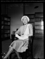 Josephine Barbee (Sally Wray) in an office, Los Angeles, 1930