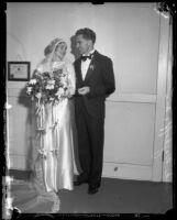 Frank Wykoff and his bride, Ethel Mae, on their wedding day, Glendale, 1933
