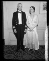 Mr. and Mrs. H. E. Yarnell at the Second Annual Navy Ball, Los Angeles, 1932