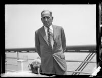 Rear-Admiral Yates Stirling Jr. aboard the SS Lurline, San Pedro, 1933