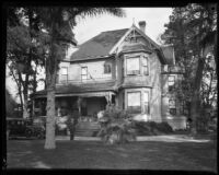 George Zobelein and his house, Los Angeles, ca. 1929