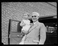 Joseph Scott with his grandson, Joseph Scott, Jr., Los Angeles, ca. 1930s