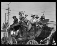 Horse-drawn carriage in La Fiesta de Los Angeles parade, Los Angeles, 1931