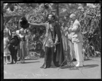 Felipe Delgado as Felipe De Neve at the opening of La Fiesta de Los Angeles, 1931