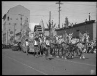 Parade float at the La Fiesta de Los Angeles parade, Los Angeles, 1931