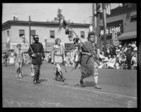 Parade of Four Flags commencing the La Fiesta de Los Angeles celebration, Los Angeles, 1931