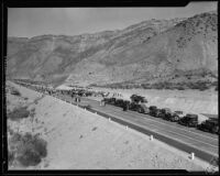 Opening ceremony for Ridge Route Alternate Highway, Los Angeles County, 1933
