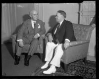 Governor James Rolph and Mayor Frank Shaw, Los Angeles, ca. 1933