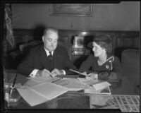 Mayor Frank L. Shaw and Maud Stafford, Los Angeles, ca. 1930s