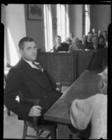 Chief of Police Roy Steckel in court, Los Angeles, ca. 1930s