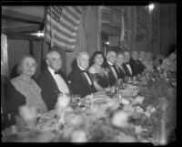 John S. McGroarty at a banquet, Southern California, 1920-1940