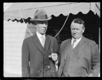 Mark Quayle Watterson and Dr. Charles E. Turner, probably at the time of Watterson's trial for embezzlement, Independence, 1927