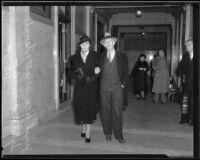 Joseph Weinblatt appears in court, Los Angeles, 1935