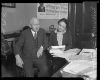 U. S. Attorney Samuel W. McNabb and Assistant Attorney General Mabel Walker Willebrandt, Los Angeles, ca. 1926
