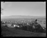 View of Sherman Oaks valley, from a home on Round Valley Drive, Sherman Oaks, 1934