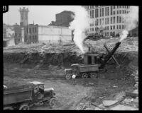 City Hall construction site, Los Angeles, ca. 1927