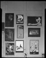 Art work in an Otis Art Institute student exhibition, Los Angeles, 1921