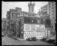 Los Angeles Times building on First and Broadway, circa 1934