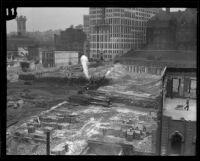 Construction of City Hall, Los Angeles, ca. 1927