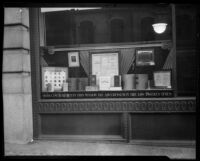 Dictionaries in a window display at the third Los Angeles Times building, Los Angeles, ca. 1934