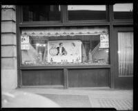 Lucky Strike window display at third Los Angeles Times building, Los Angeles, ca. 1934