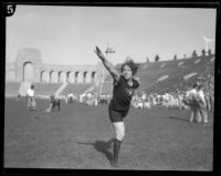 Lillian Copeland at the Coliseum, Los Angeles, circa 1924-1932