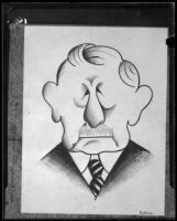 Caricature of R. W. Pridham by Miguel Covarrubias, 1925